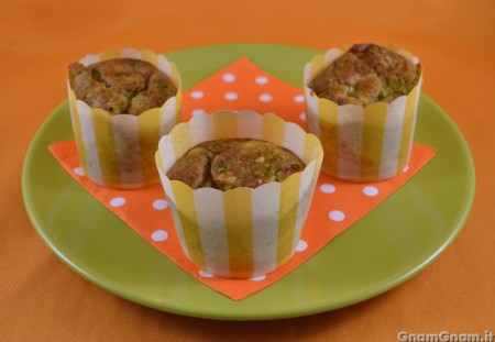 Muffin broccoli e salame